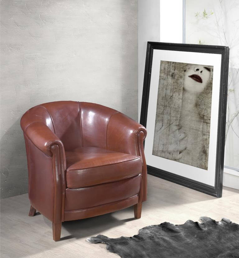 Fauteuil Club Lincoln Cuir Authentique