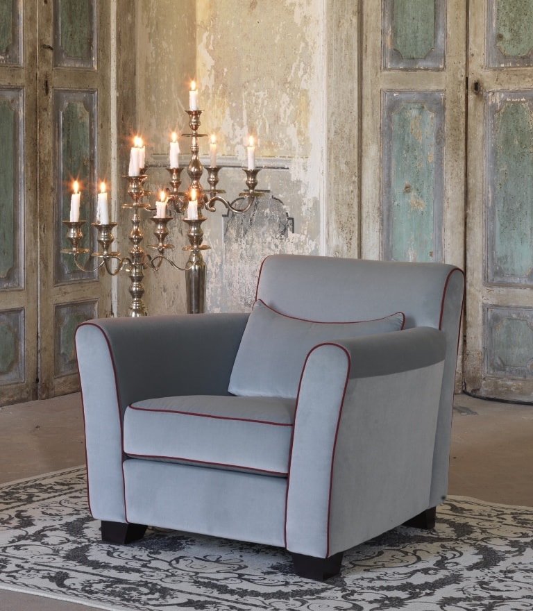 fauteuil club tissu gris edmund d cor actuel magasin paris. Black Bedroom Furniture Sets. Home Design Ideas